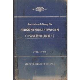 Wartburg PKW Instructieboekje   Mengsmering Fabrikant 59 met gebruikssporen   Duits