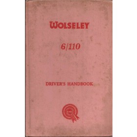 Wolseley 6/110 Instructieboekje   Benzine Fabrikant 62 met gebruikssporen   Engels