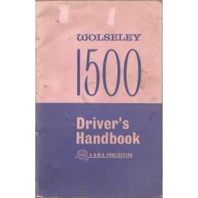 Wolseley 1500 Instructieboekje   Benzine Fabrikant 63 met gebruikssporen   Engels