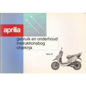 Aprilia Rally 50 Instructieboekje   Benzine Fabrikant 96 met gebruikssporen   Nederlands/Fins