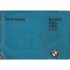 BMW R50/5-R60/5-R75/5 Instructieboekje   Benzine  73 met gebruikssporen intensieve gebruikssporen  Duits