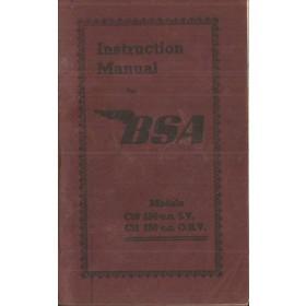 BSA 250cc Instructieboekje  Model C10/C11 Benzine  52 met gebruikssporen   Engels