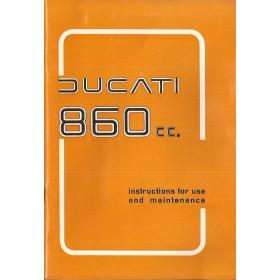 Ducati 860cc Instructieboekje   Benzine  76 ongebruikt met supplement  Engels