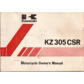 Kawasaki KZ 305 CSR Instructieboekje   Benzine  81 met gebruikssporen   Engels