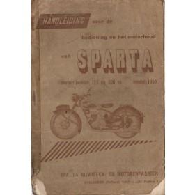 Sparta 125/200 Instructieboekje   Benzine  50 met gebruikssporen rug gerepareerd  Nederlands