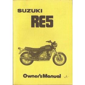 Suzuki RE5 Instructieboekje   Benzine  76 ongebruikt   Engels