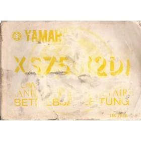 Yamaha XS750 (2D) Instructieboekje   Benzine  77 met gebruikssporen beschadigde kaft  Frans/Engels/Duits