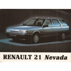 Renault 21 Nevada Instructieboekje   Benzine/Diesel Fabrikant 90 met gebruikssporen   Nederlands