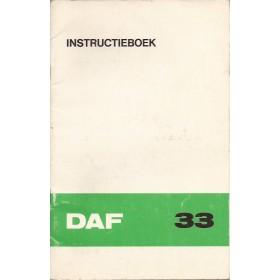 DAF 33 Instructieboekje   Benzine Fabrikant 72 met gebruikssporen   Nederlands