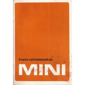 Austin Mini Instructieboekje   Benzine Fabrikant 89 met gebruikssporen, lichte vochtschade   Nederlands