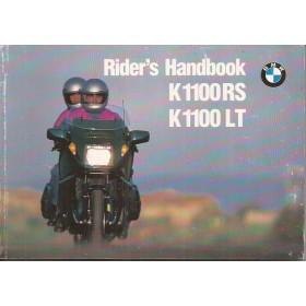BMW K1100 RS/LT Instructieboekje   Benzine  93 ongebruikt met onderhoudsboekje  Engels