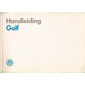 Volkswagen Golf Instructieboekje   Benzine/Diesel Fabrikant 89 met gebruikssporen   Nederlands
