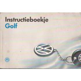 Volkswagen Golf Instructieboekje   Benzine/Diesel Fabrikant 93 met gebruikssporen   Nederlands