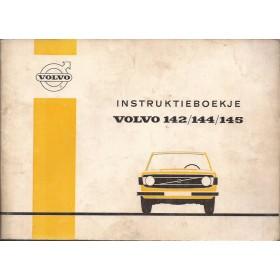Volvo 142/144/145 Instructieboekje   Benzine Fabrikant 72 met gebruikssporen   Nederlands