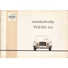 Volvo 164 Instructieboekje Benzine Fabrikant 1968 met gebruikssporen Nederlands