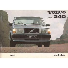 Volvo 240 Instructieboekje   Benzine Fabrikant 82 ongebruikt   Nederlands