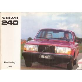 Volvo 240 Instructieboekje   Benzine Fabrikant 83 ongebruikt   Nederlands