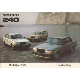 Volvo 240 Instructieboekje   Benzine Fabrikant 84 ongebruikt   Nederlands