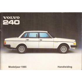 Volvo 240 Instructieboekje   Benzine Fabrikant 85 ongebruikt   Nederlands