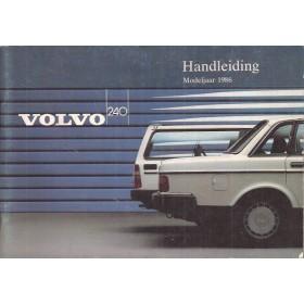 Volvo 240 Instructieboekje   Benzine Fabrikant 86 ongebruikt   Nederlands