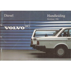 Volvo 240 Instructieboekje   Diesel Fabrikant 86 ongebruikt   Nederlands