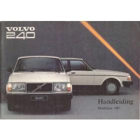 Volvo 240 MY1987 Instructieboekje   Benzine Fabrikant 86 ongebruikt   Nederlands
