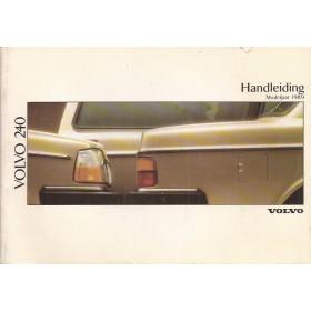 Volvo 240 Instructieboekje   Benzine Fabrikant 88 ongebruikt   Nederlands