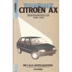 Citroen AX Vraagbaak P. Olving Benzine Kluwer 1986-1988 met gebruikssporen Nederlands