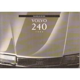 Volvo 240 Instructieboekje   Benzine Fabrikant 92 ongebruikt   Nederlands