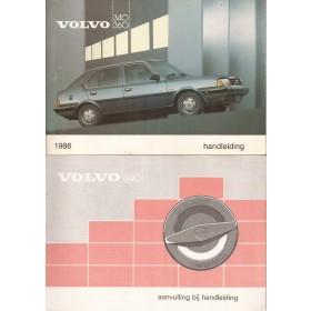 Volvo 340/360 Instructieboekje  MY 1986 Benzine/Diesel Fabrikant 85 ongebruikt   Nederlands