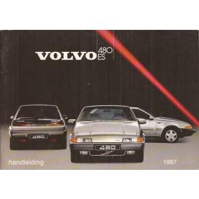 Volvo 480 ES Instructieboekje   Benzine Fabrikant 86 met gebruikssporen   Nederlands