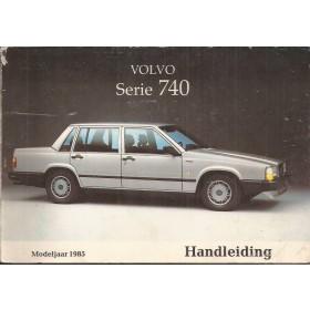 Volvo 740 Instructieboekje   Benzine Fabrikant 84 ongebruikt   Nederlands