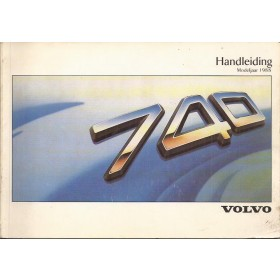 Volvo 740 Instructieboekje Benzine/Diesel Fabrikant 87 met gebruikssporen Nederlands