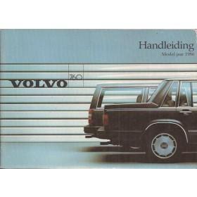 Volvo 760  Instructieboekje   Benzine/Diesel Fabrikant 85 ongebruikt   Nederlands