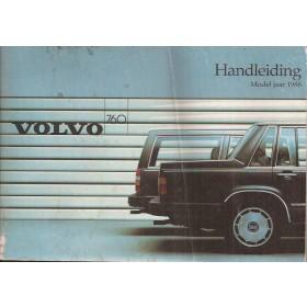 Volvo 760  Instructieboekje   Benzine/Diesel Fabrikant 85 met gebruikssporen   Nederlands