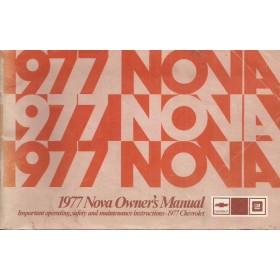 Chevrolet Nova Instructieboekje   Benzine Fabrikant 77 ongebruikt   Engels