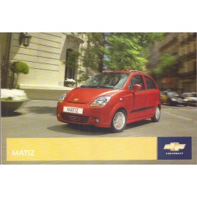Chevrolet Matiz Instructieboekje   Benzine Fabrikant 08 ongebruikt   Nederlands
