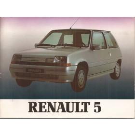 Renault Super 5 Instructieboekje   Benzine Fabrikant 90 met gebruikssporen in originele map   Nederlands