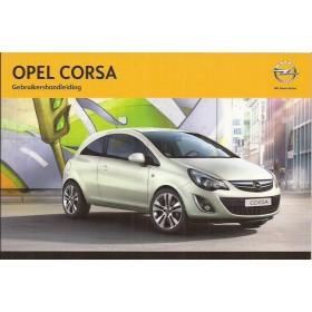 Opel Corsa D Instructieboekje   Benzine/Diesel Fabrikant 12 ongebruikt   Nederlands