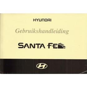 Hyundai Santa Fe Instructieboekje Benzine/Diesel Fabrikant 04 met gebruikssporen in originele map  Nederlands