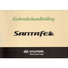 Hyundai Santa Fe Instructieboekje Benzine/Diesel Fabrikant 07 met gebruikssporen   Nederlands