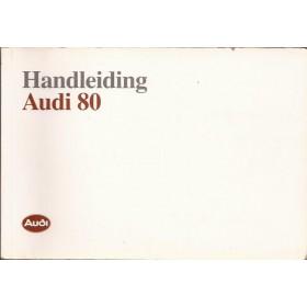 Audi 80 Instructieboekje   Benzine Fabrikant 89 met gebruikssporen   Nederlands
