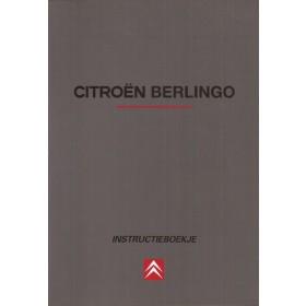 Citroen Berlingo Instructieboekje Benzine/Diesel Fabrikant 99 met gebruikssporen Nederlands
