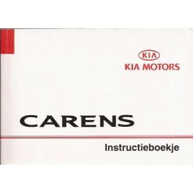 Kia Carens Instructieboekje Benzine/Diesel Fabrikant 02 met gebruikssporen in originele map Nederlands