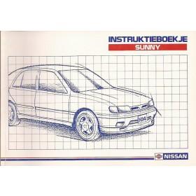 Nissan Sunny Instructieboekje  model N14 Benzine/Diesel Fabrikant 90 met gebruikssporen   Nederlands