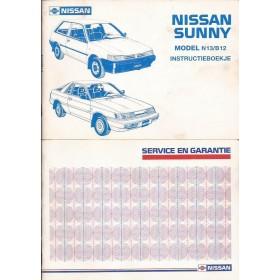 Nissan Sunny Instructieboekje  model N13 Benzine/Diesel Fabrikant 88 met gebruikssporen   Nederlands