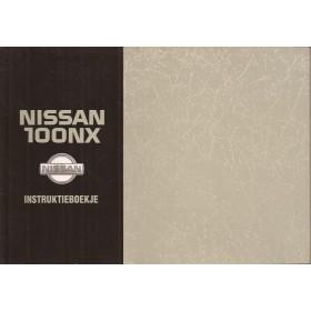 Nissan 100NX Instructieboekje  model B13 Benzine Fabrikant 93 met gebruikssporen   Nederlands