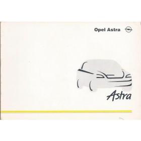 Opel Astra G Instructieboekje   Benzine/Diesel Fabrikant 98 ongebruikt   Nederlands