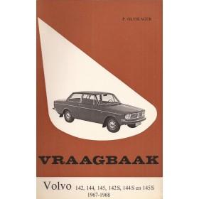Volvo 142/144/145 Vraagbaak P. Olyslager Benzine Kluwer 1967-1968 met gebruikssporen Nederlands 1967 1968