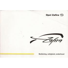 Opel Zafira A Instructieboekje   Benzine/Diesel Fabrikant 02 met gebruikssporen vouw in kaft  Nederlands